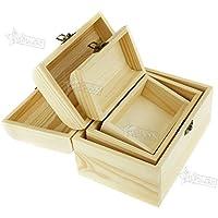 Preisvergleich für Generic E Brust Craft Case Schmuckkästchen je Box Andenken Rage Box K Holzkreisel Treasure nket Jude Brust Schmuckkästchen Holz Krankheiten, Aufbewahrung Oden
