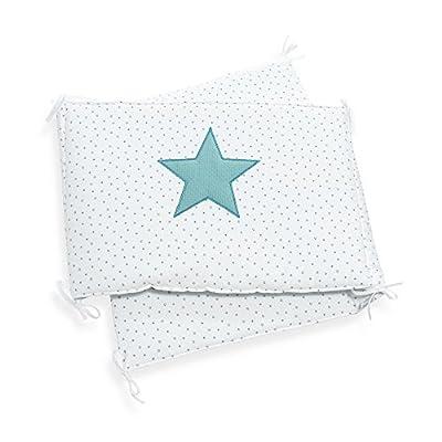 Alondra Mare 181 - Protector para cuna con estrellas, 70 x 140 cm, color blanco