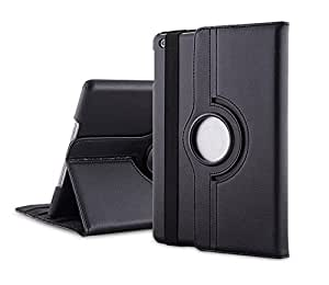 TGK 360 Degree Rotating Leather Smart Case Cover Stand for Apple iPad Mini 2 (Black)