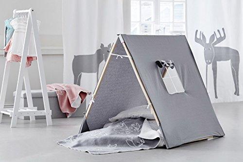 Kids Concept Asiento de madera caja de baúl Almacenamiento Lino Niños Madera Muebles de 90x 32x 30cm, Muchos Colores