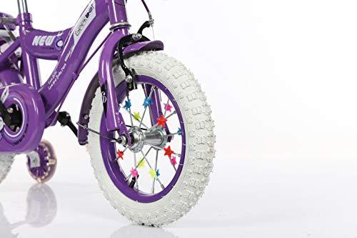 Geekbot Bicicletta bambino ragazza 12 pollici – Bambino 3-6 anni – Pneumatico gonfiabile – Vestibilità comoda – Piccola cablata – Pneumatico principessa con pneumatici bianchi - 2