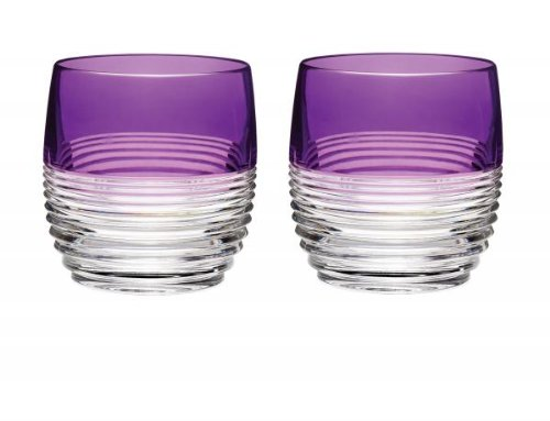 Waterford Crystal Mixology Circon Purple Tumbler, Set of 2 by Waterford Waterford Tumbler Set
