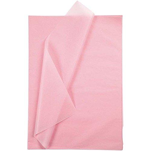 Creavvee® Decoupage Seidenpapier 50x70 cm, Rosa 25 Blatt