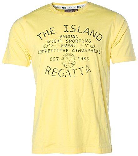 Kitaro Herren Kurzarm Shirt T-Shirt Rundhals The Island Regatta Gelb