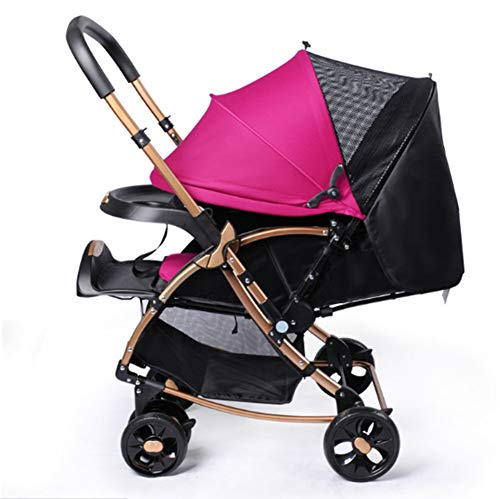 Showgg passeggino, trolley portatile ad alto paesaggio, ammortizzatore a due vie, passeggino, passeggino,pink