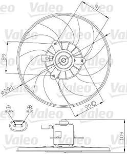 Valeo 696286 Ventilateur, refroidissement du moteur