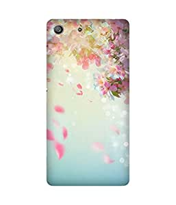 Petal Rainfall Back Cover Case for Sony Xperia M5
