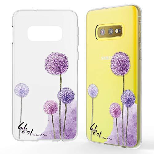 NALIA Hülle kompatibel mit Samsung Galaxy S10e, Motiv Handyhülle Slim Silikon Case Cover Schutzhülle Dünn Durchsichtig, Etui Handy-Tasche Backcover Transparent Bumper, Designs:Dandelion Pink