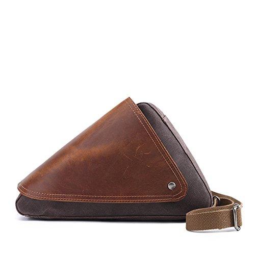 Mefly Uomini Casuale Della Mammella Caratteristiche Sacchetto Individuale Obliqui Di Spallamento Trasversale Travel Bag Sacchetto Impermeabile Caffè Coffee