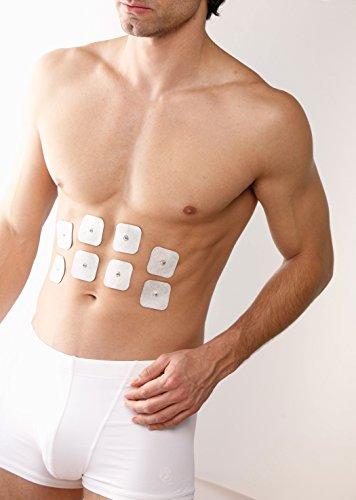 Sanitas selbstklebende Gel-Elektroden Pads, Nachkaufset, bestehend aus 8 Pads, passend für Sanitas EMS/TENS Geräte, 45 x 45 mm - 3
