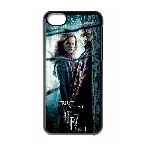 Deathly Hallows coque iPhone 5C Housse téléphone Noir de couverture de cas coque EBDXJKNBO11314