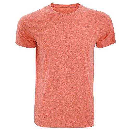 Russell Herren Slim Fit T-Shirt, kurzärmlig Blau Meliert
