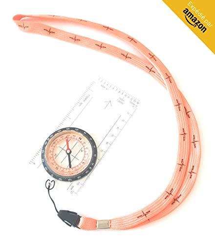 RICTHO-PULSE Kompass Wandern, Ausrüstung für Überlebensausrüstung, militärisch, ideal für Karten, Wandern, Camping, Outdoor-Sport Zum Verstauen im Rucksack für Expedition. Einfach, effektiv