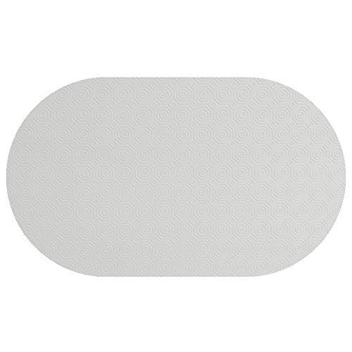 Poker Esszimmer Tisch (Tischpolster RUND OVAL Größe & Farbe wählbar Weiss 130 x 160 cm Oval Tischschoner Tischschutz Molton Auflage Schoner Unterlage)