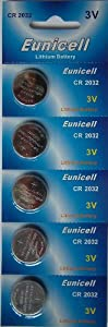Pilas de litio CR2032, 3V, 5 unidades