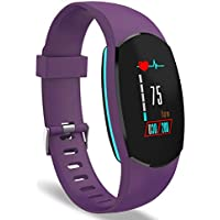 YoYoFit Heart Rate Monitor, Egg Color Display Wristband Fitness Trackers Watch, Smart Bracelet Pedometer Watch with Steps/Calorie / Distance Counter, SMS/SNS and Call Reminder