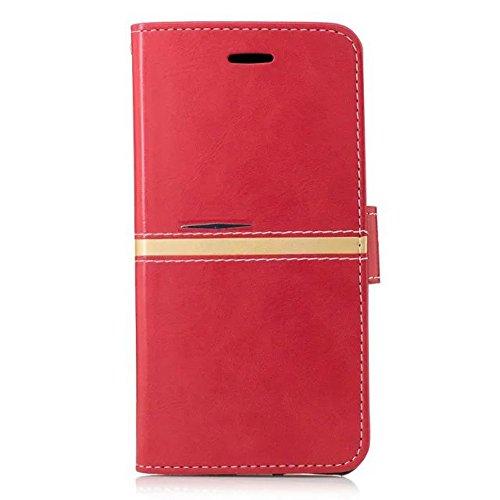 JIALUN-étui pour téléphone Pour Appel Housse Case iPhone 6 et 6s avec slot pour carte, support, bouton magnétique peut être ouvert ( Color : E ) E