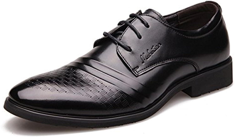 Business Casual Herrenschuhe  Hochwertige Leder Herrenschuhe  Schwarz Braun Einfache Herren Hochzeit Kleid Schuhe