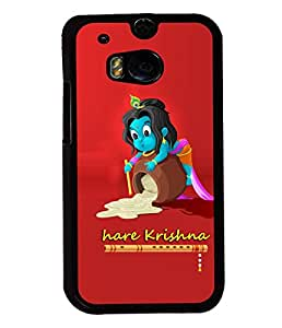 Fuson Premium Hare Krishna Metal Printed with Hard Plastic Back Case Cover for HTC One M8