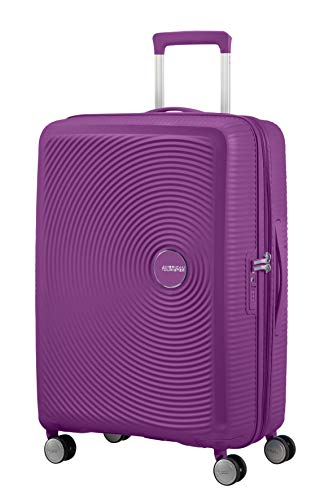 American Tourister Soundbox Spinner Medium Expandable Bagaglio A Mano, 67 cm, 81 Liters, Viola (Purple Orchid)