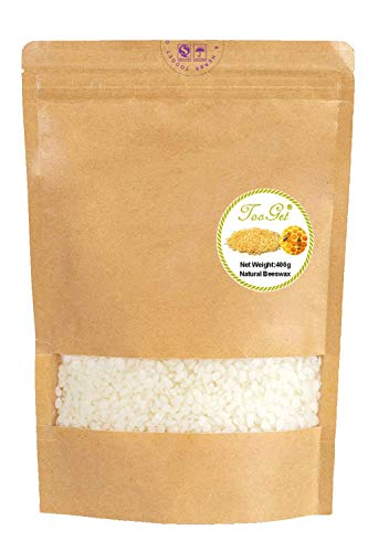 TooGet Pure White Beeswax Bees, Natural Beeswax Pellets, Bees Wax Pastilles - Premium Quality, Cosmetic Grade - 14 OZ