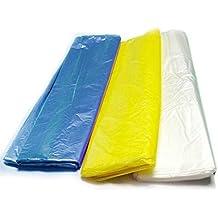 Takestop® 30bolsas bolsas sobres 70x 110cm para recoger basura reciclaje colores amarillo azul blanco papelera