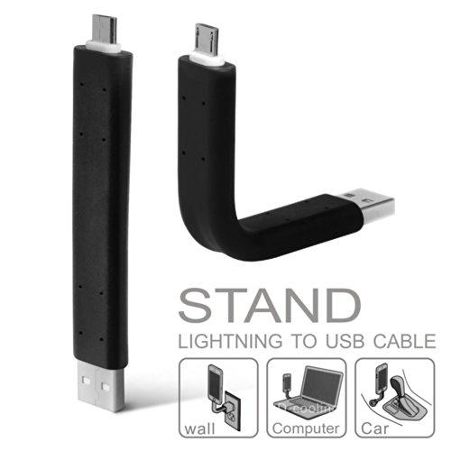 heroneo-cable-flexible-con-funcion-atril-de-lightning-v8-a-micro-usb-sincronizacion-de-datos-y-carga