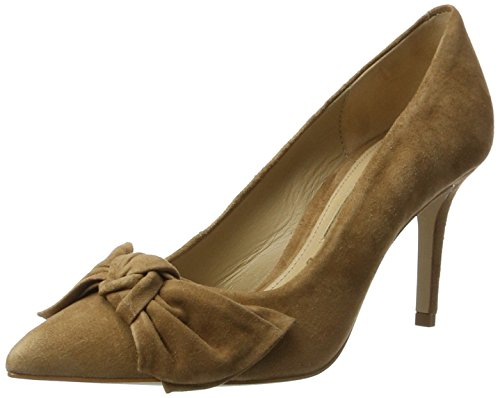 Buffalo London Damen ZS 7668-16 Kid Suede Pumps, Beige (Amendoa 01), 37 EU
