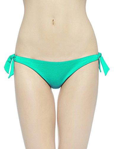 EONAR Damen Niedriger Bund Bikinihosen Seitlich zu binden Brazil-Bikinislip (M,Green)