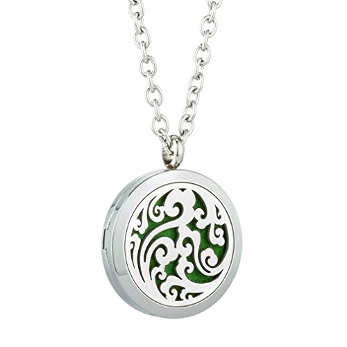 Stainless Steel Aromatherapy Locket Pendant Skilful Manufacture Fashion Jewelry Radient Essential Oil Diffuser Necklace