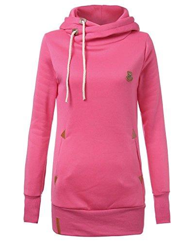 frauen-langarm-kapuzen-slim-fit-farbe-mit-taschen-fleece-pullover-sweatshirtslpink