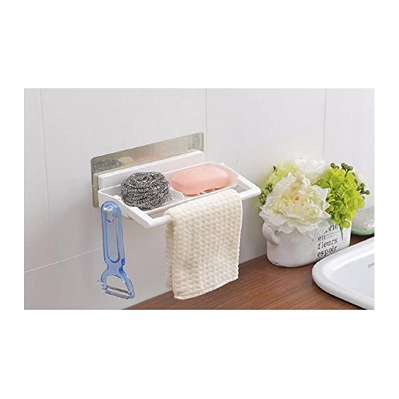 VelKro Bathroom Towel Bar Plastic Water Bottle Storage Rack - 1pc