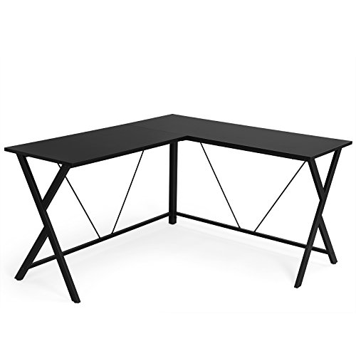 VASAGLE Bureau Informatique, Table d'Angle, Table d'ordinateur, Bureau Poste de Travail, Robuste et Durable, Montage Simple, Table Informatique pour Maison et Bureau, Gain de Place, Noir LWD70BK