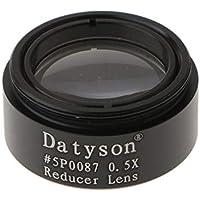 P Prettyia Barlow Lente 0.5X Focal Reductor Metal con m28 x 0.6 Thread 1.25 Pulgadas / 31.75mm Accesorio Ocular para Telescopio
