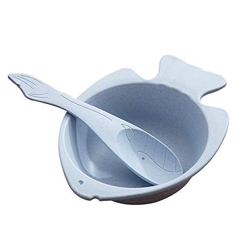 Demarkt Kinder Schüssel Löffel Set Fisch Form Eiscreme Dessertschale Müslischalen Lebensmittel Kunststoff Schalen Salatschale Küchenutensilien Tools Geschenke für Kinders