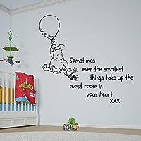 V&C Designs Ltd (TM Winnie the Pooh Sometimes the Smallest Things Girls Room Boys Room Baby Nursery Large Statement Wall Sticker Decal Mural Vinyl Art