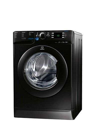 Indesit XWE 81483X K EU Waschmaschine FL / A+++ / 193 kWh/Jahr / 1400 UpM / 8 kg / 11594 Liter/Jahr / Push und Wash / Inverter-Motor / leise nur 52 db / Schnellprogramm 9-30-60 Min / schwarz - 4