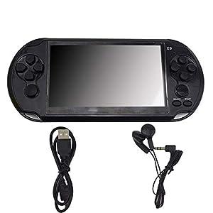 MapleDE Mode Handheld-Spielekonsole, X9-Spielkonsole PSP GBA/NES Handspielkonsole, GBA5.0-Großbildschirm