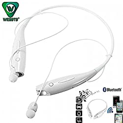 WEB9T9 Multimedia Bluetooth Headset Compatible Certified with Samsung, Motorola, Sony, Oneplus, HTC, Lenovo, Nokia, Asus, Lg, Coolpad, Xiaomi, Micromax and All Android Mobiles Connected to Bluetooth Headset Device.(COLOR WHITE)