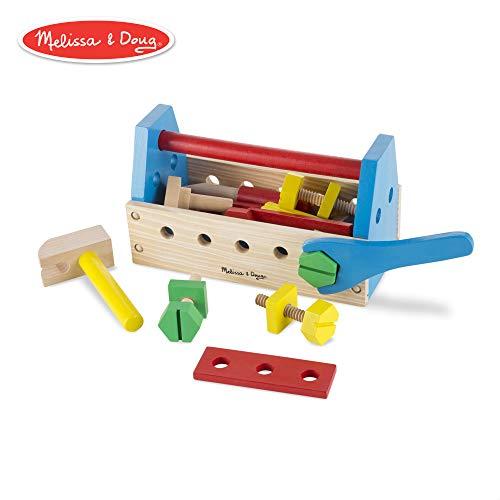 Melissa & Doug Tragbarer Werkzeugkasten aus Holz (24 Teile)