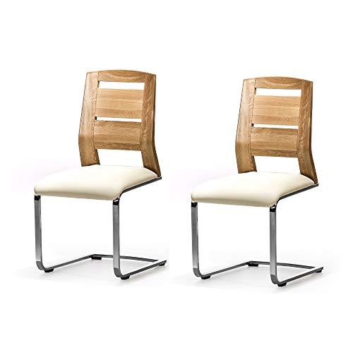 Amazon Marke -Alkove - Hayes - Moderner Massivholzstühle 2er Set mit gepolsterter Sitzfläche, Wildeiche