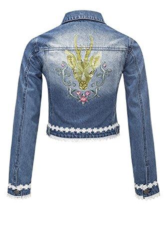 Hailys Damen Jeansjacke Denim Leichte Jacke Oktoberfest Blue