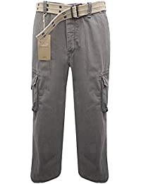 70189668adcfd0 Ex Marks and Spencer Men's M&S Grey Vintage Blue Harbour Pure Cotton  Utility Cargo Trousers With