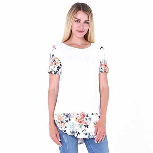 Maglietta Camicetta Vovotrade Casual senza maniche in cotone bianca