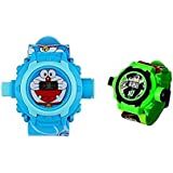 Vishwakarma Enterprises24 Images Projector Watchs For Kids (Combo Pack Of 2Pc)(Clear Projection And Durablility)