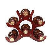 LY exquisiter Junge Solide Weinregal, Wohnzimmer Display Weinregal, originelles Design, unabhängig, 26 * 16,5 * 21,5 cm