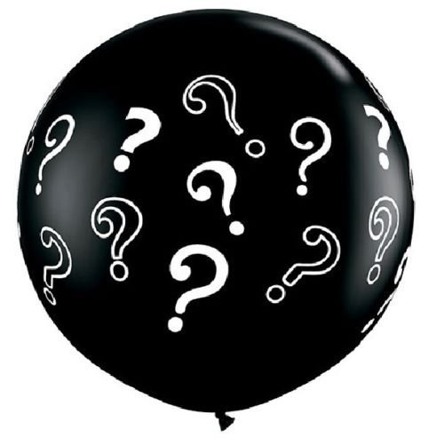 LoonBalloon Black Gender Reveal ? Mark Party Baby Shower Boy Girl 36 3 Feet Latex Balloon + by LoonBalloon