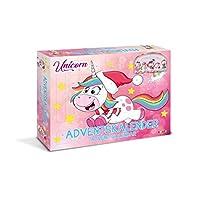 CRAZE Premium Advent Calendar Unicorn Horse Christmas Surprise for Children 14028, Colorful