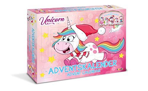 CRAZE Adventskalender UNICORN Einhorn 2019 Weihnachtskalender für Mädchen Spielzeug Kalender tolle Inhalte 14028