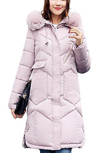 - L'hiver Matelassé Des Parkas Occasionnels Extérieur De La Tenue À pink